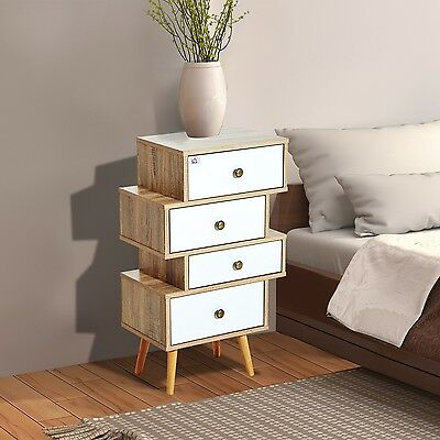 Modern Bedside Table Drawer Storage Unit Nightstand Cabinet Side Table Organizer