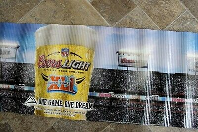 Coors Light Beer Banner Super Bowl XLI 2007 Colts vs. Bears Man Cave Art