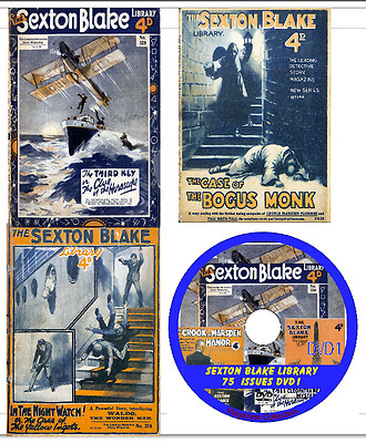The Sexton Blake Library 75 Magazines on DVD British detective stories (No1)