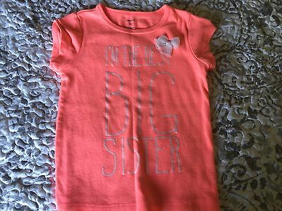 Carter's Toddler Girl Big Sister Shirt Size 5T EUC