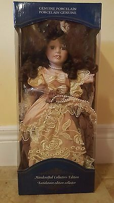 "Handcrafted Collectors Edition 16"" Genuine Porcelain Doll"