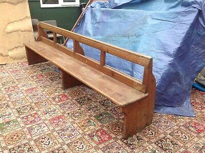 Church Pew, Pine, 9ft ... Victorian... 19th Century
