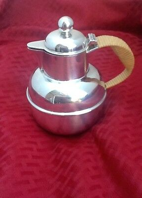 Pint Size Silver Tea  Pot, Very Rare Hinged Lid, Woven Handle, Beautiful