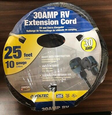 Voltec 30Amp RV Extension Cord 16-00558 FREE SHIPPING!!!
