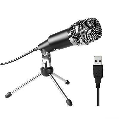 PC microphone,Fifine Plug Play Home Studio Cardioid USB Condenser Microphone for