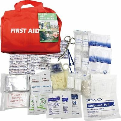 71 Pieces First Aid Kit Emergency Medical Home Office Sport Camping Car Taxi