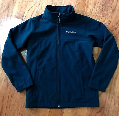 COLUMBIA BOYS SOFT SHELL JACKET Ascender Black, Youth M 10-12 EUC