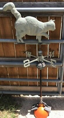 Rare Antique Cat Weathervane  Complete Set-up Collectible