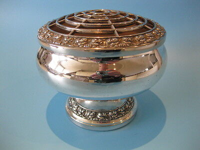 Beautiful Large Vintage Silver Plated Flower / Rose / Posy Bowl