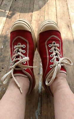 vtg 60s 1960s Sneakers Athletic Shoes Canvas Tennis Shoes Tennis Pro sz 7 1/2