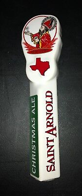 "Saint Arnold Christmas Ale 10"" Ceramic Beer Tap Handle"