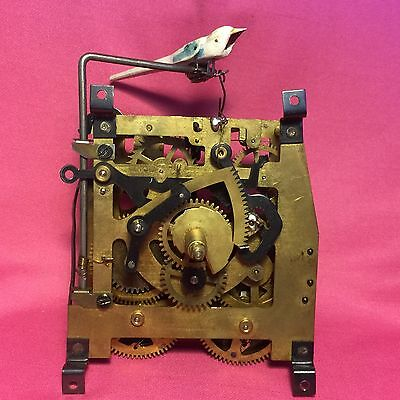 Vintage Hubert Herr Cuckoo Clock Movement For Parts Or Repairs Or Steampunk