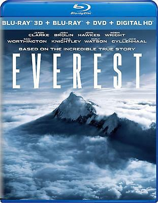 EVEREST (2015) 3D + 2D Blu-Ray +DVD BRAND NEW Free Shipping