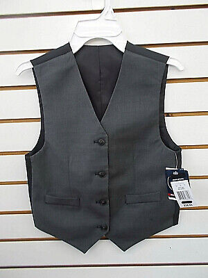Boys $34 Grey Reversible Vest Sizes 8 - 14/16
