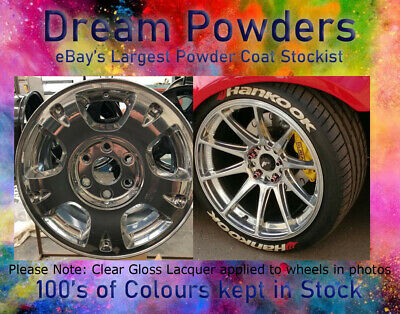 MIRROR CHROME SMOOTH Gloss 1kg Powder Coat Coating Refurbishment Alloy Wheel