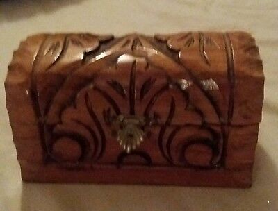 Small carved wooden box