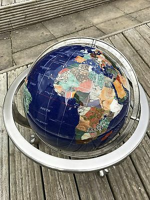 Large Gem Stone Globe / World Map - Man Cave Decoration - Suit Bar / Library