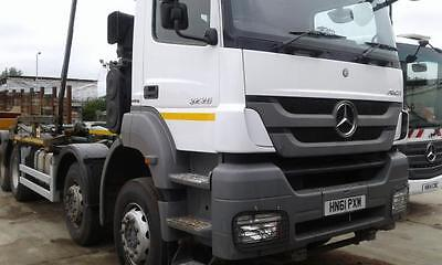 2011 Mercedes Axor 3236 8x4 Hookloader Hyvalift Gear Sheeting System RORO Euro 5