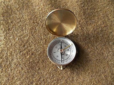 Vintage,pocket Compass,brass Case,thalson,germany,very Nice,works
