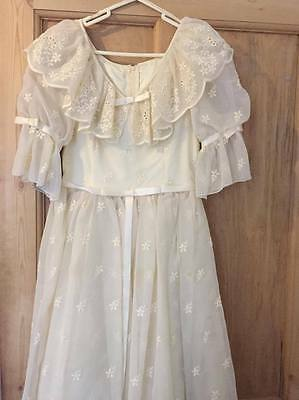 Retro 1980's white wedding dress
