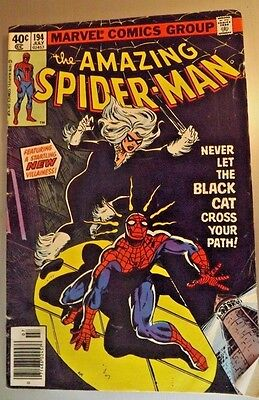 The Amazing Spider-Man #194 1st Appearance of Black Cat 1979 Comic Book 81117#23