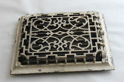 Antique Cast Iron Rectangular Gothic Floor Grate Heat Register