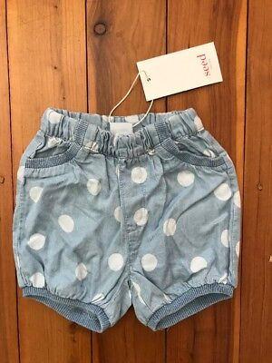 Seed Baby Chambray Shorts Size 00 BNWT
