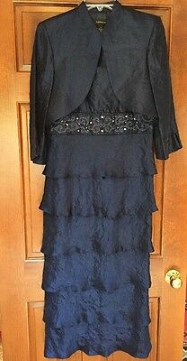 R&m Richards Mother Of The Bride/formal Tea Length Dress With Jacket Worn Once