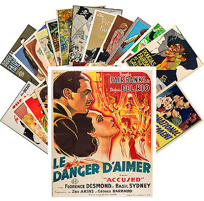 Postcards Pack [24 cards] Del Rio and Fairbank Silent Film Vintage Poster CC1090