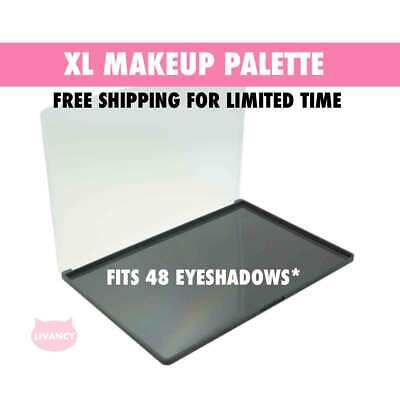 DIY Empty Magnetic Makeup Palette XL Strong Plastic Fits 48 Eyeshadows*