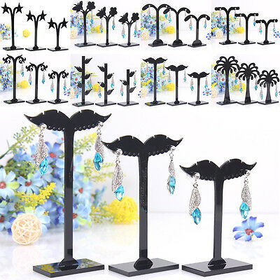 Earrings Charm Pretty 3 Pcs Display Stand Jewelry  Holder New Black Hot