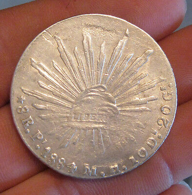 Mexico - 1884 PiMH Large Silver 8 Reales