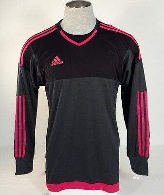 30ab6f9a5ba Adidas AdiZero Top 15 GK Black & Pink Long Sleeve GoalKeeper Jersey Youth  Boy's