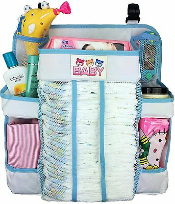 Crib and Changing Table Organizer - Non-Sagging Nursery Organizer For Diapers,