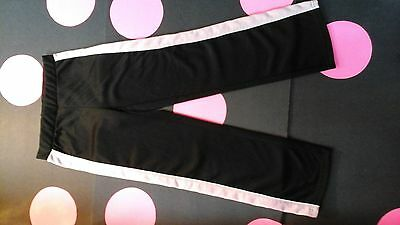 Girl's  Size  Medium  7-8  Black  and  Pink  Athletic  Track  Pants