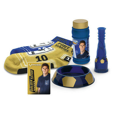 Lionel Messi Foot Bubbles Gold Edition - Socks with  signature & Trading card!