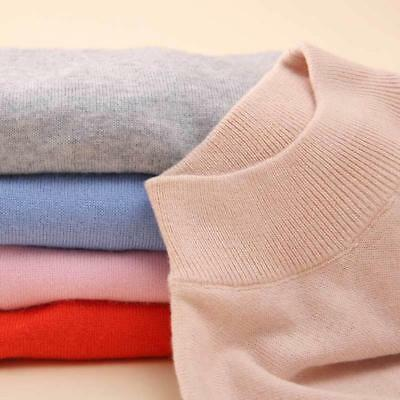 Women Cashmere Blended Sweater Autumn Winter Warm Slim Knitted Pullover Wool New