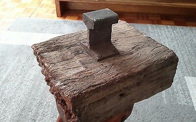 Antique Railway Track Anvil Doorstop Presentation  Piece - 150 Years Old