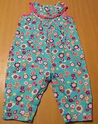 Hanna Andersson 80 (18-24mons) Girls One-Piece Romper Pink Blue Floral