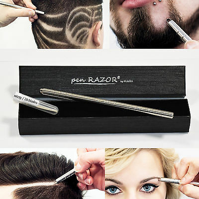 Pen RAZOR Hair Tattoo Trim Styling Face Eyebrow Shaping Tool Sharp Blade US