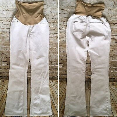 Jessica Simpson Womens Maternity Jeans Size Small White