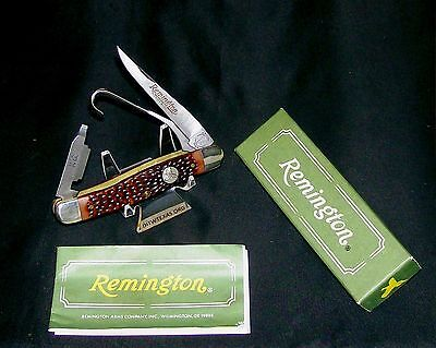 "Camillus SFO Knife ""Remington R-1 Upland Game USA"" 1980's NOS W/Packaging,Papers"