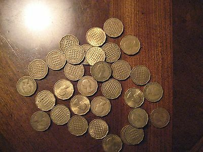 Great Britain-Large Lot of brass 3 pence