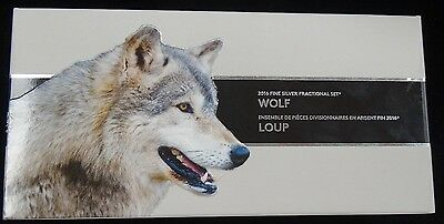 Wolf Proof (1.85Ozt) 2016 Fine Silver Fractional Set Canada