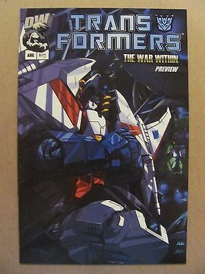 Transformers The War Within Preview #1 Dreamwave 2002 Series 9.4 Near Mint