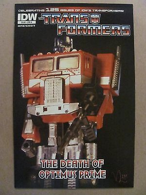 Transformers Death of Optimus Prime #1 IDW 2011 One Shot 9.6 Near Mint+