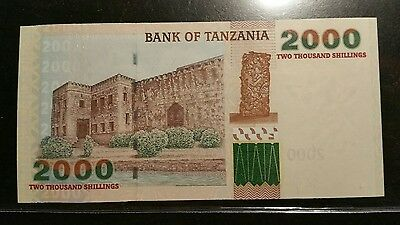 2003 Tanzania 2000 Shillings Uncirculated Note sleeved
