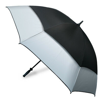 NEW Clifton Hurricane Black & Silver Golf Umbrella