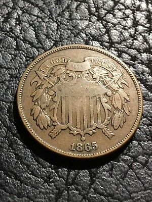 1865 Two Cent Piece. F.    INV#5384