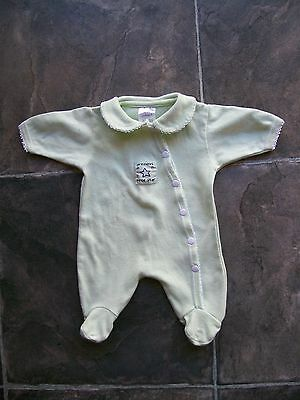 Baby Boy's Prem Target Green Cotton Knit Coverall/Sleeper Size 00000 VGUC